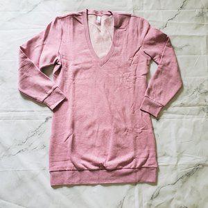 NEW American Apparel Mock twist V dress size L
